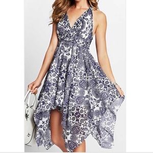 Guess printed halter dress